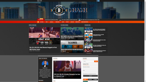 "Alumni Daniel Toll has taken the time during this summer to create his very own website, ""Beyond the Scoreboard: Miami"". BTSBMiami is a sports website that mainly focuses on football, baseball, and basketball. It will soon be filled with articles and podcasts all about Miami sports."