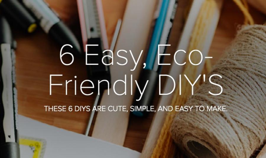 6 Easy, Eco-Friendly DIY's