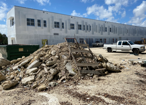 Coral Gables High School is under mass construction with approximately fifteen classrooms that can not yet be used, as well as the loss of one of the cafeterias and two walkways.
