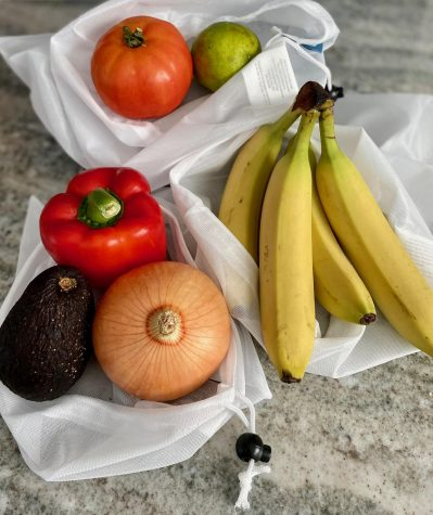 Produce bags are a sustainable way to store food items and keep them fresh.