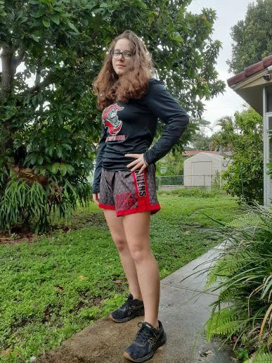 Pictured here is Benedetti in her wrestling uniform. Courtesy of Victoria Benedetti