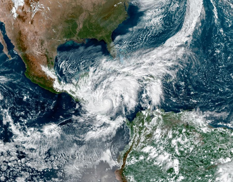 Nasa released their overview of the estimated centimeters of rain that would be fall on Central America moments before the hurricane reached land.