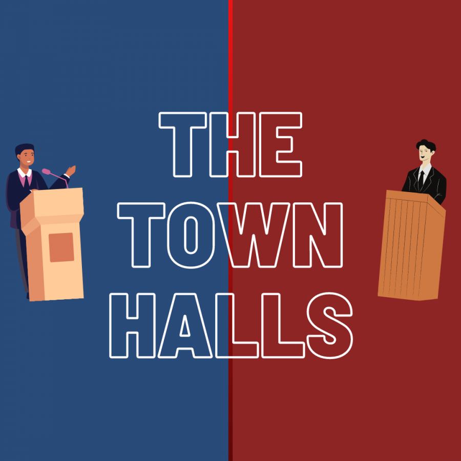 Donald Trump and Joseph Biden discussed their plans and tried to rally more votes during their respective town hall meetings.