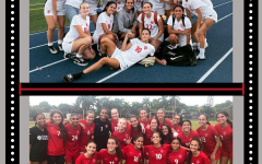 The Gables soccer coach takes post-game team pictures of the 2019-2020 Lady Cavs Varsity soccer players.