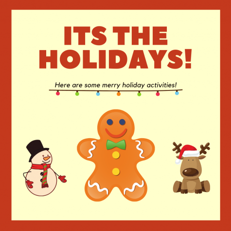 Its the Holidays! A time to celebrate, but this year it is a little bit different. So, here are some fun COVID friendly holiday activities.