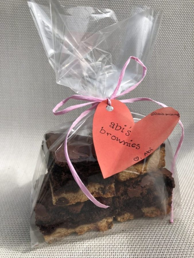 Brownies homemade by abi's brownies ready for sale.
