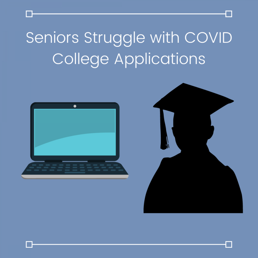 With COVID-19 complicating and moving so many aspects online, the college application process has been much more challenging for this year's seniors.