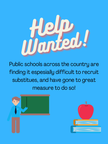 Public schools are going to great measures to recruit, in order to combat the growing substitute teacher shortages across the country.