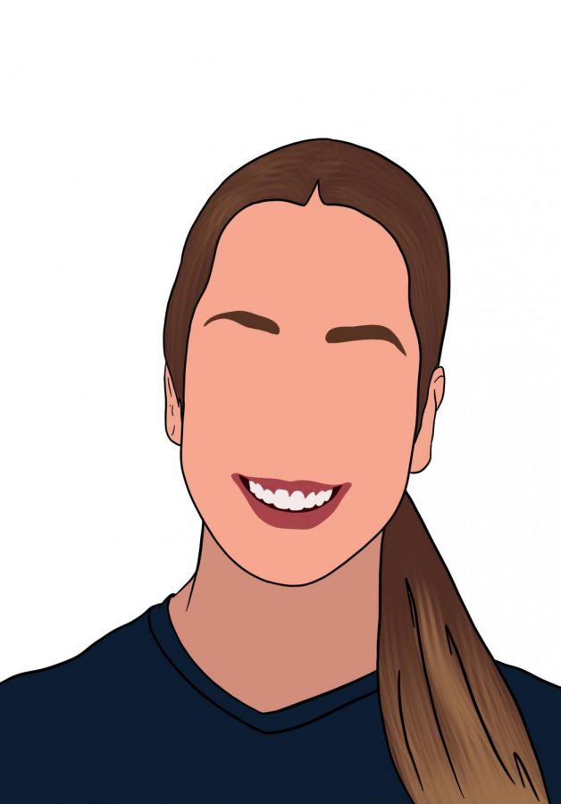 Natalie Abrahantes co-drew the images for the CavsConnect and CavsTV staff.