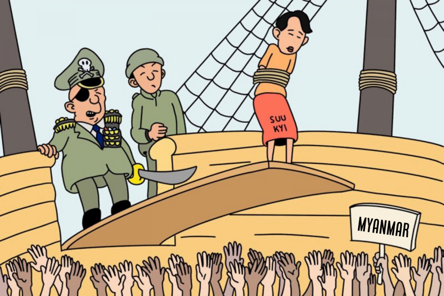 A coup detat occurred in Myanmar, a country in Southeast Asia, this past month.