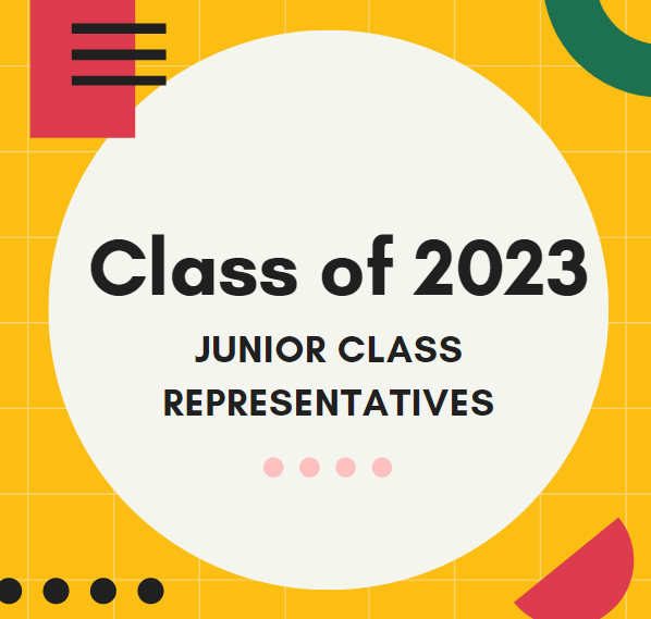 The class of 2023 Junior class representative elections will be held over Teams.