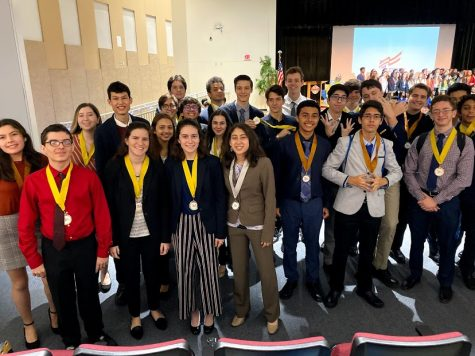 The Coral Gables Senior High FBLA members at competitions for their chance to move on to states