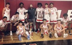 The boys basketball team on Feb. 12, 2021 defeated the Columbus explorers 69-52 in order to become district champions.
