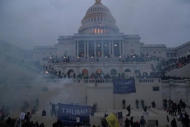 Pro-Trump supporters storm the Capitol Building, Jan. 6, police try and contain the riot, using tear gas in the process.