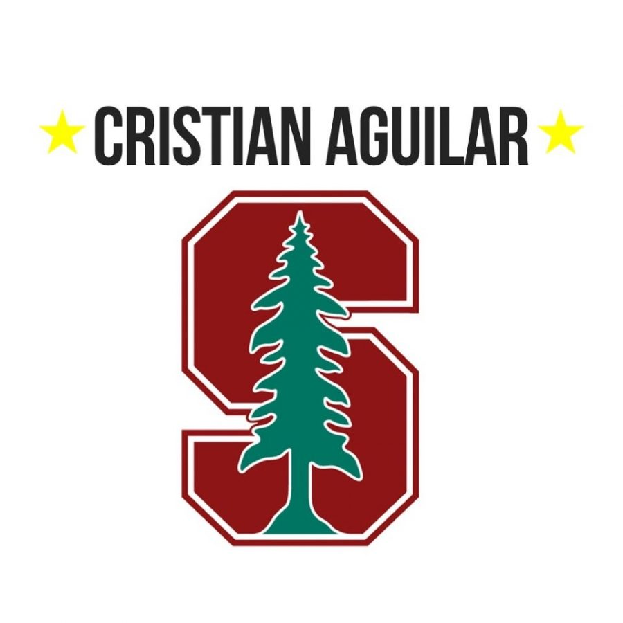 Senior Cristian Aguilar received his acceptance late 2020