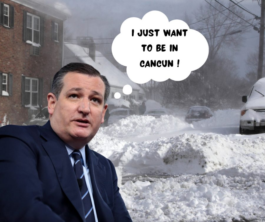 Ted Cruz flew off to Cancun while his constituents are suffering back in Texas due to the winter storm.