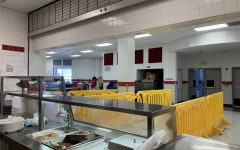 The new cafeteria, not to be confused with the new-new cafeteria, after having served food to students at Gables.