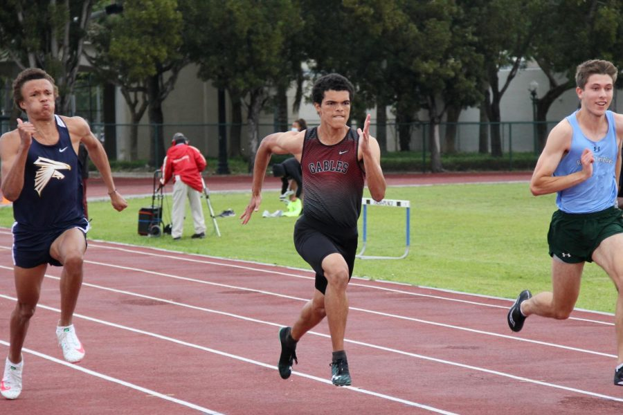 The first match of the season ended with the Gables team taking home victories in the Men's 200 meters and 3200 meters.