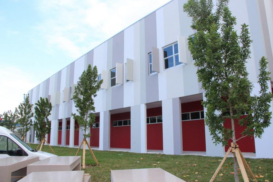 The outside of the newly built Building 6 that is set to house students by the beginning of the 2021-2022 school year.