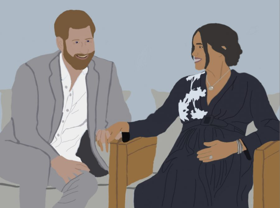 Meghan+Markle+And+Prince+Harry+sit+down+for+an+interview+with+Oprah+Winfrey+to+give+their+side+of+the+story+on+why+they+stepped+down+from+their+positions+as+senior+royals.
