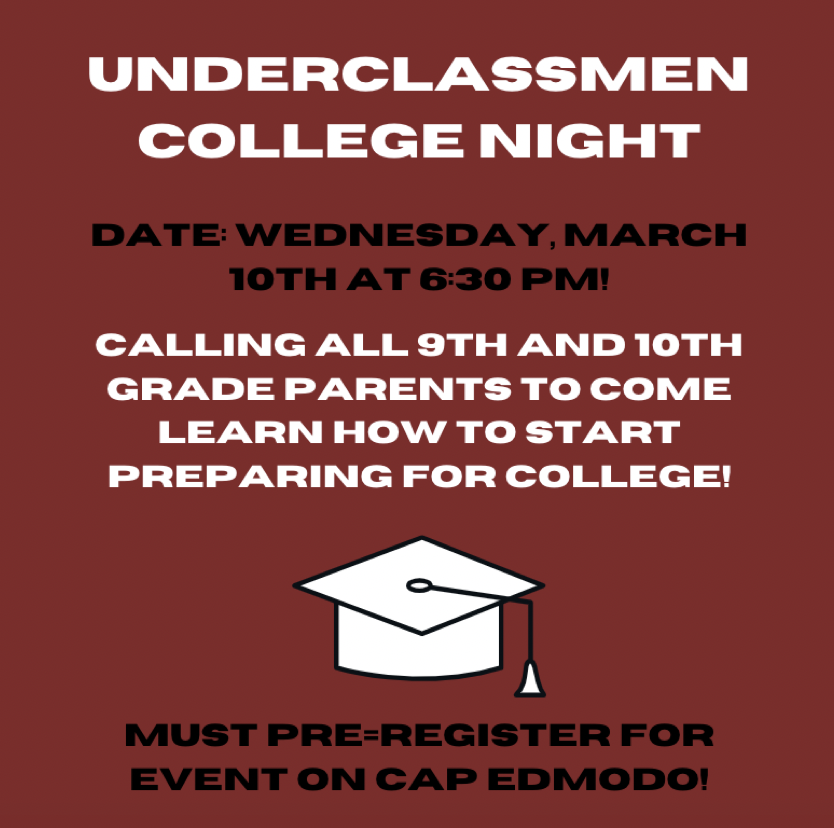 This Underclassmen Parent Night ended at around 8 o'clock since the presentation took around an hour and there were roughly 30 minutes for questions.