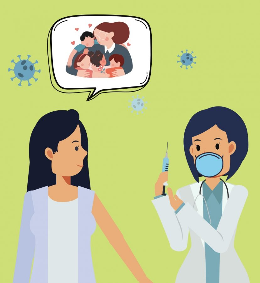 As teachers long for a face to face interaction with students a vaccine gives them hope that there is an end in sight.