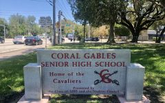 Drivers and pedestrians along Bird Road get to see the refurbished sign that marks Gables.