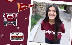 Hamza is already showing her Phoenix pride with her maroon UChicago t-shirt.