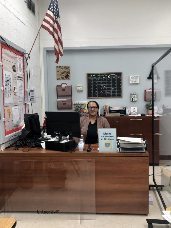 After a long week of organizing FSA testing schedules, Ms. Andrews sits in her office prepared to tackle what comes next.