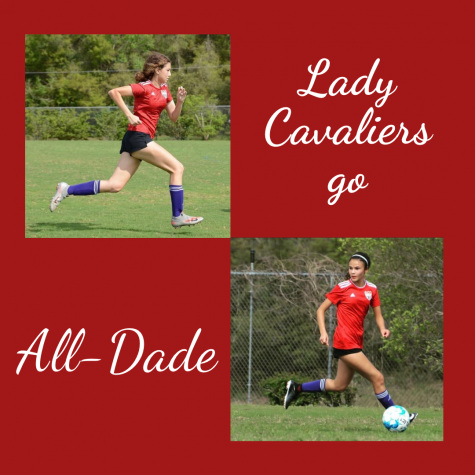 Junior Mia Calderon (top left) and senior Karina Leon (bottom right), have shown their skill on the field throughout the soccer season.