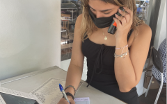 Scheduling reservations for customers is a task Chacon has become comfortable with because her communication and social skills have improved throughout her time working at Farinelli 1937.