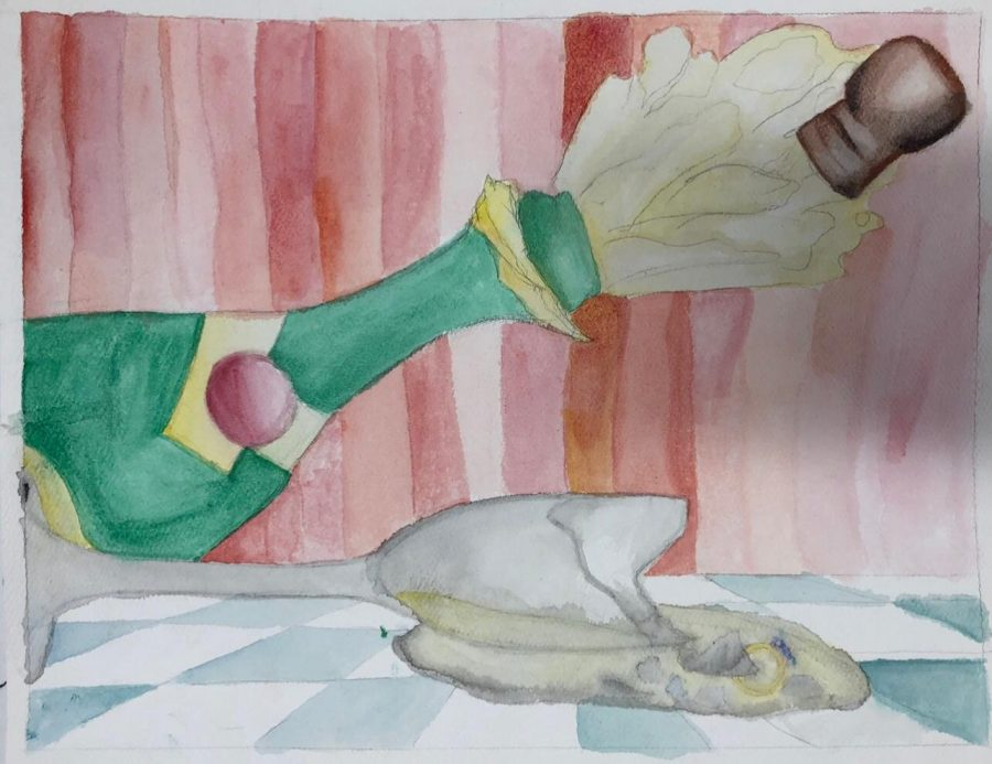 One of many paintings junior Sofia Perez-Estevez has drawn and hand painted. During quarantine, she has seen improvement in her work.