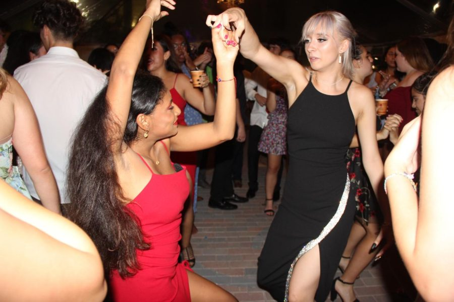 The pop and latin hits played by the live DJ had students dancing all night long.