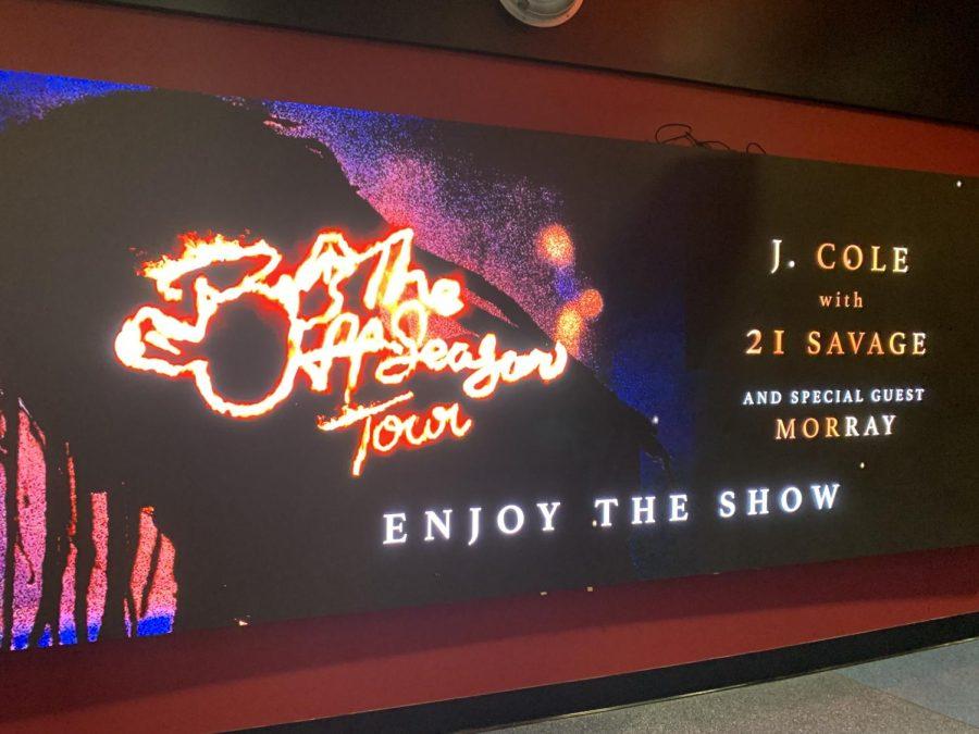 Preview of The Off-Season Tour as you enter the FTX Arena.